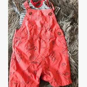 Overalls! Comes with a onesie